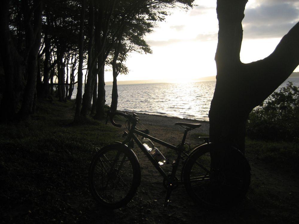 Beginn der Radreise Dänemark Schweden - Zelten an der Ostsee