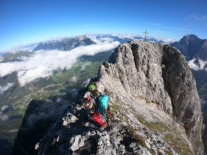 Überschreitung Ehrwalder Sonnenspitze 2417 m mit Hund