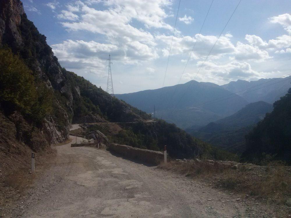 Straßenverhältnisse Albanien