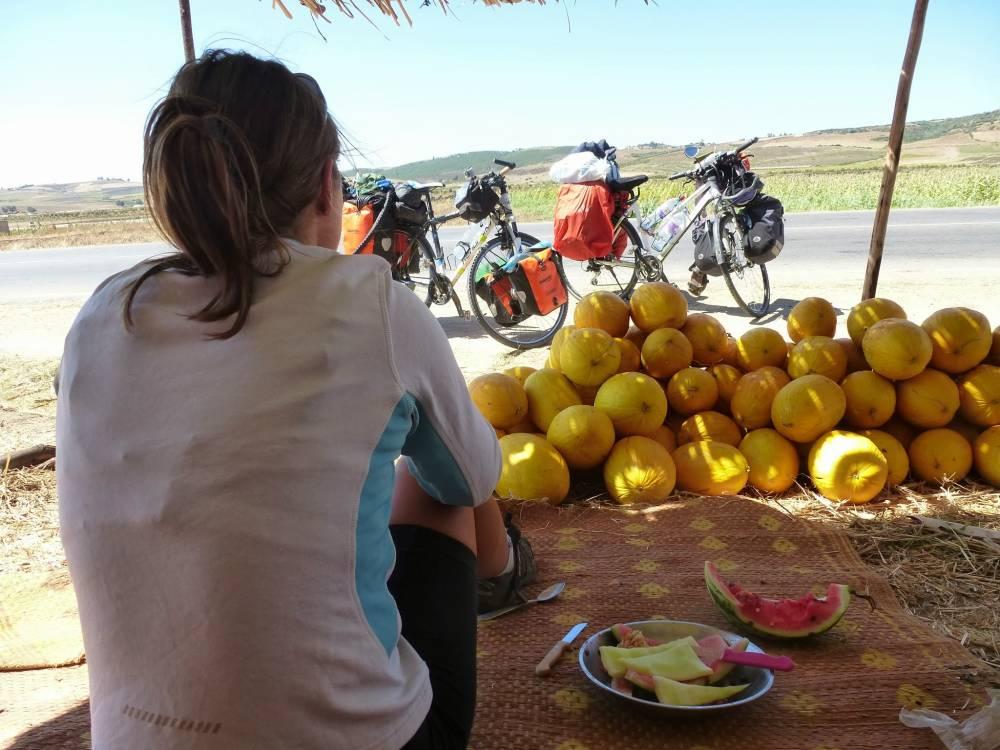 Ein Tag als Melonenverkäufer...