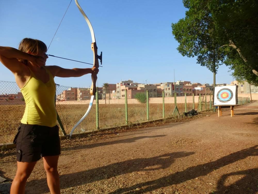 Bogenschießen in Marrakesh