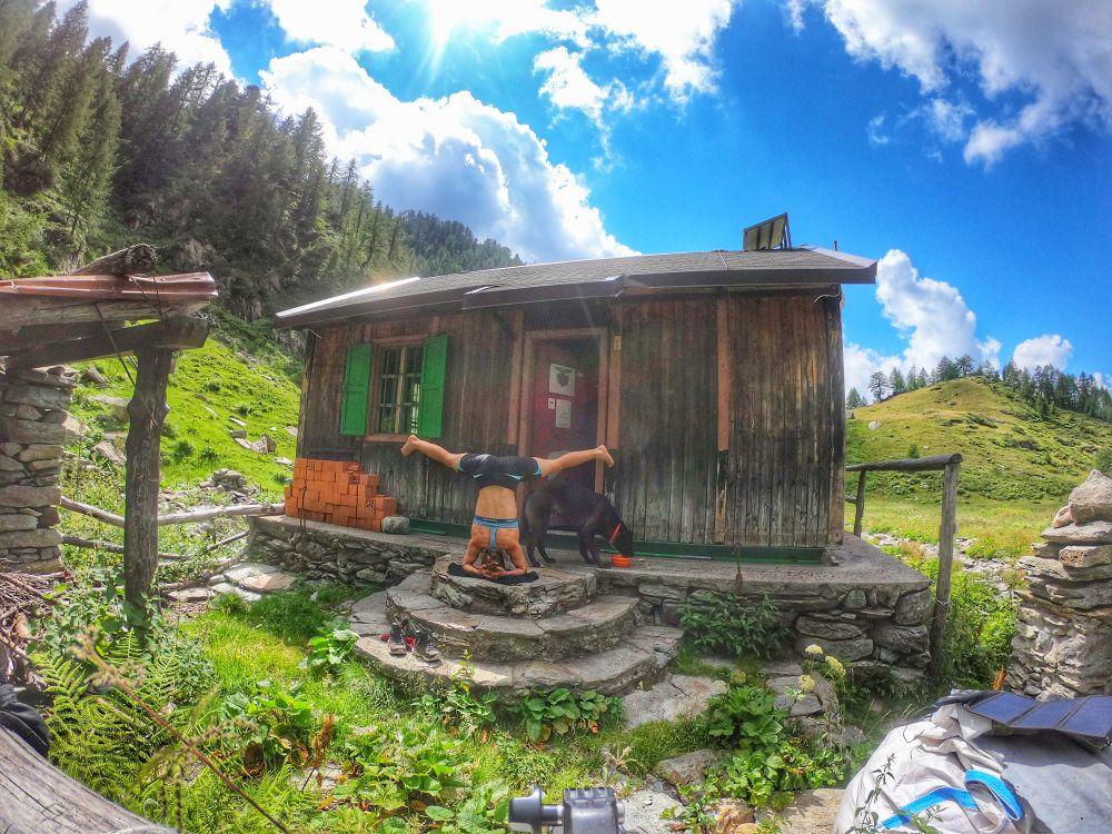 Romantische Hütte in den Bergen