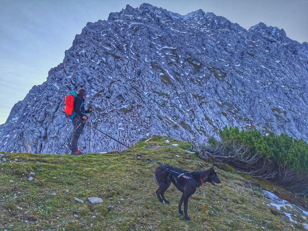 Blick in die mächtige Nordwand des Wörners