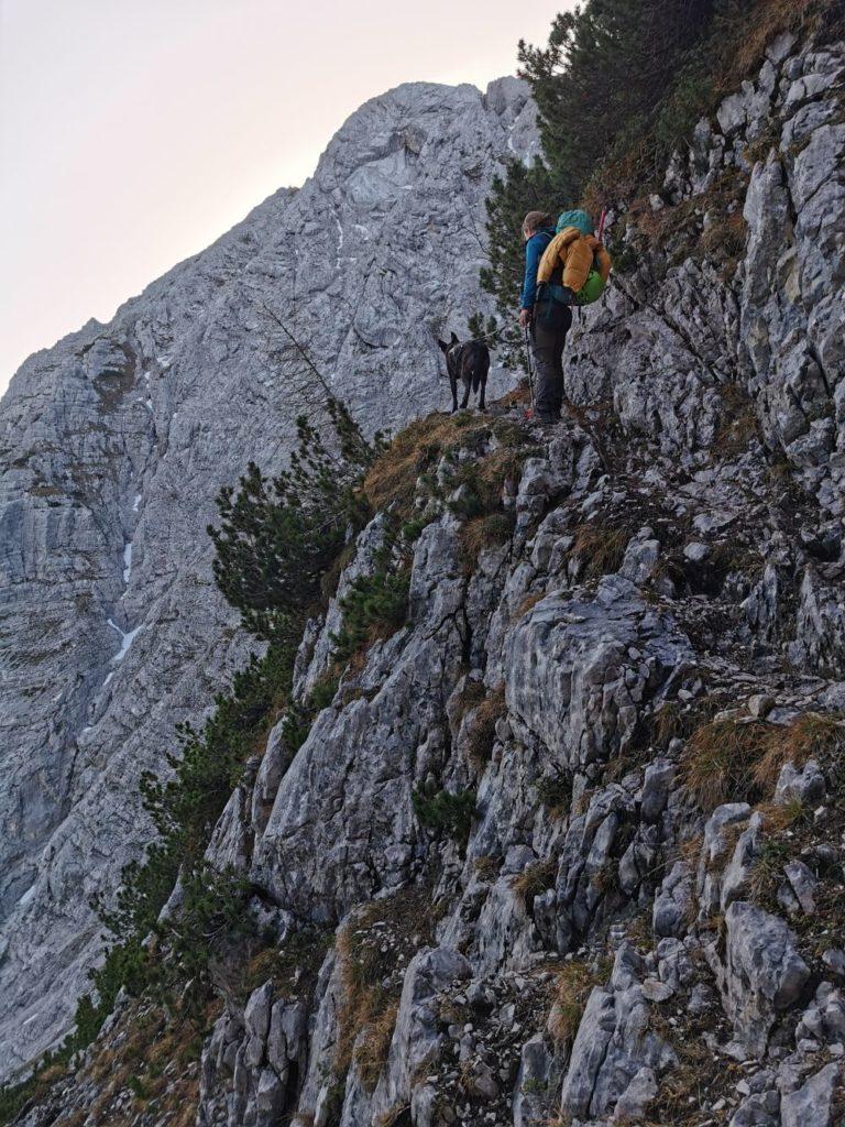 Schmal und ausgesetzt zur Wettersteinspitze