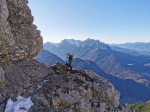 Bergtour mit Hund: Westliche Karwendelspitze über Karwendelsteig  & Mittenwalder Höhenweg