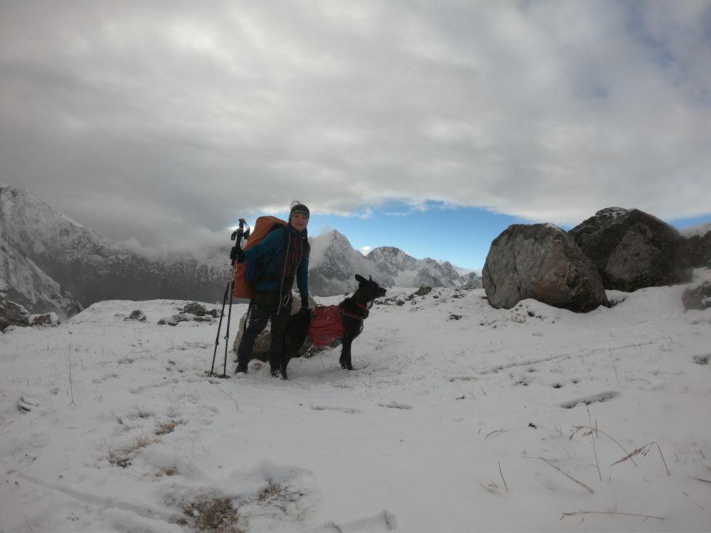 Schneesturm auf dem Weg zur Sonne