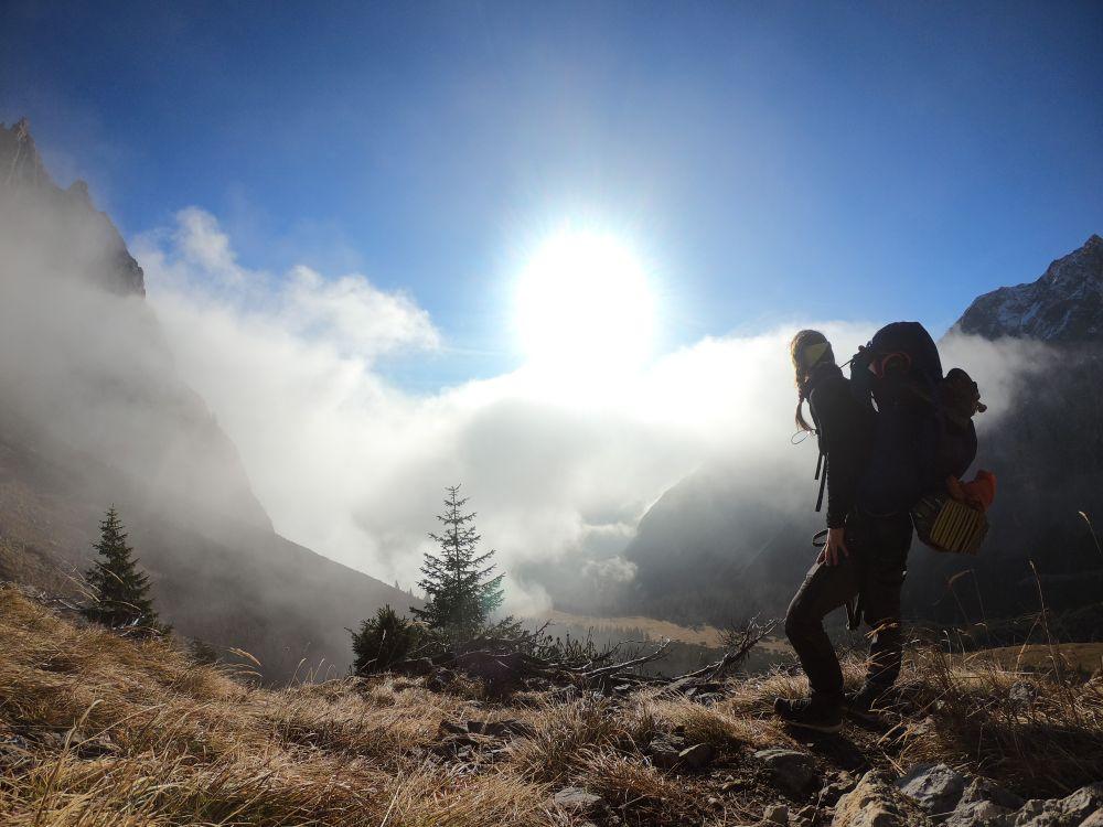 Sonne im Gesicht, Wolken im Tal