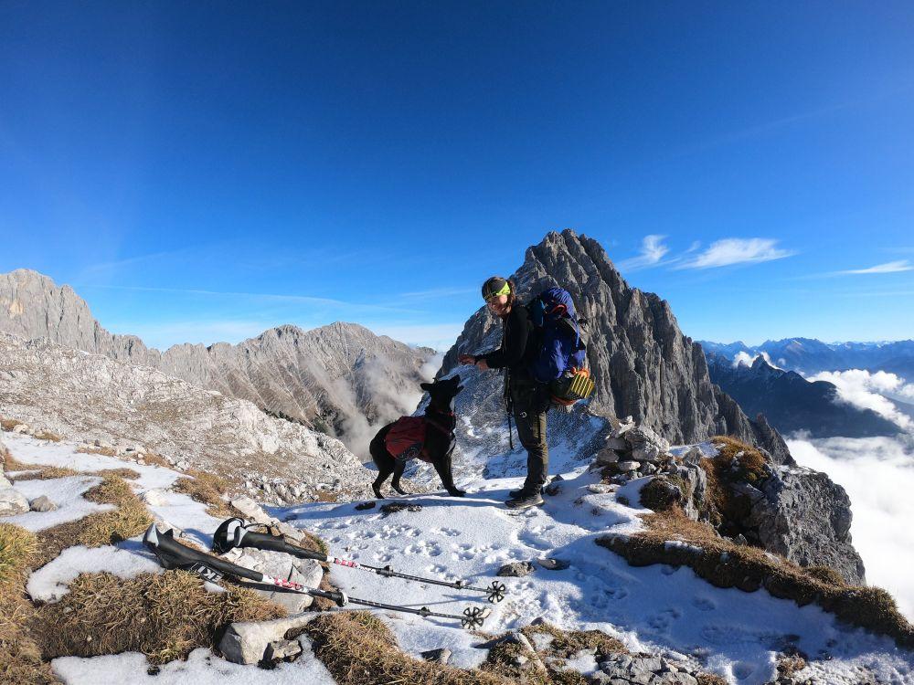 Mit Hund Trekking um die Zugspitze