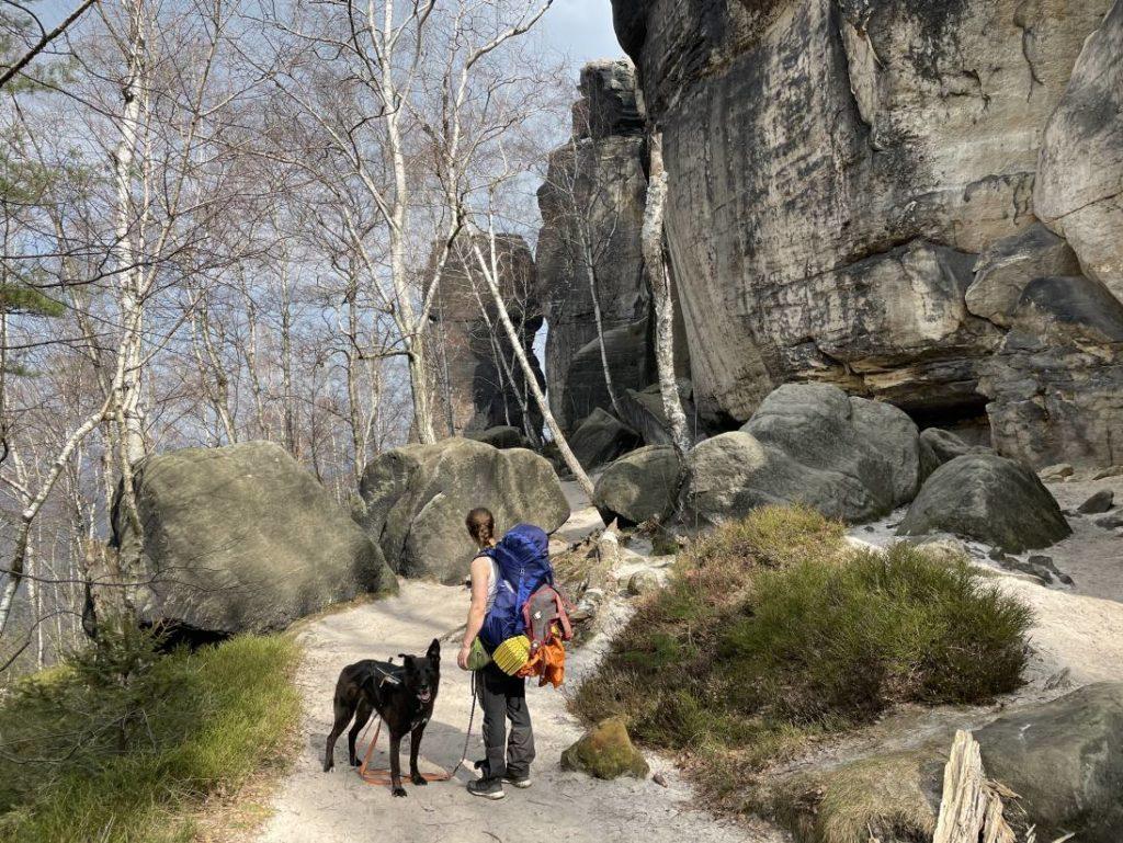 Microadventure mit Hund im Elbsandsteingebirge