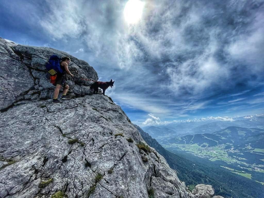 Alpinklettern mit Hund - Hackenköpfe